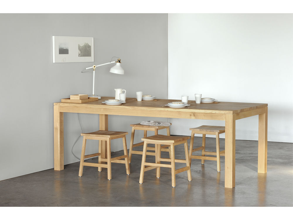Home styling Dining tables and chairs for all occasions  : Ethnicraft Online Oak Straight Extendable Dining Table January 2017 from www.expatliving.sg size 1000 x 750 jpeg 69kB