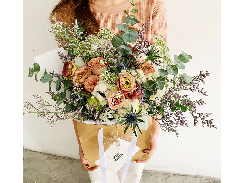 Urban Meadow Flowers large bouquet in bag where to order flowers