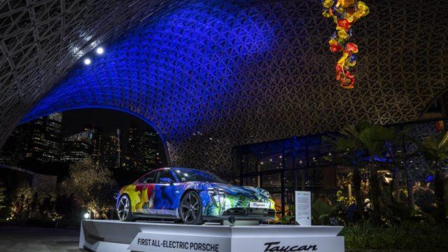 Porsche Taycan art car Dale Chihuly